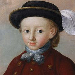 "Georg Mathias Fuchs Oil on Canvas ""Portrait of Jonas Colin as a Three Year Old"", 18th Century"