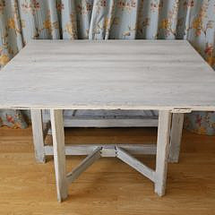 80-4935 White Washed Drop Leaf Dining Table A_MG_7423