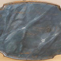 Antique Scandinavian Faux Marbleized Tea Table