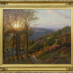 "83-4935 Peder Mork Monsted Oil on Canvas ""View from Himmelbjoerget"" A_MG_7657"