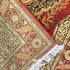 Hand Knotted Wool Indian Persian Carpet
