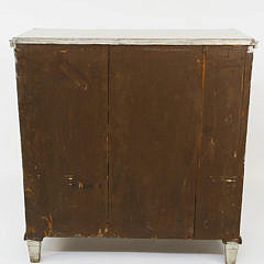 Swedish Gustavian Style Lime Washed Three Drawer Chest, 19th Century