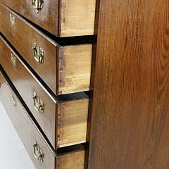 American Chippendale Cherry Graduated Four Drawer Chest, 18th Century