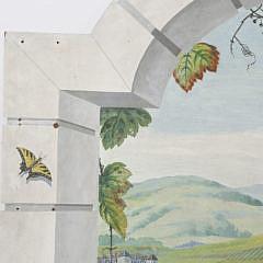 """Trompe l'oeil  on Board """"Napa Valley Vineyard Landscape Windowview"""""""