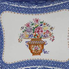 Mottahedeh Vista Alegre Winterthur Mandarin Bouquet Decorated Dish