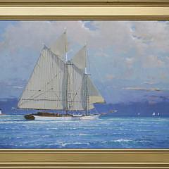 132-3520 William Lowe Nantucket Schooner Passing Brant Point A_MG_9652