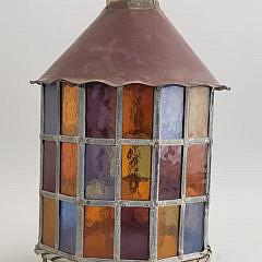 1402-955 Leaded Glass Lantern A