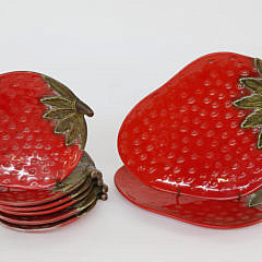 Tayle of the Whale Nantucket Island Strawberry Plates and Platters