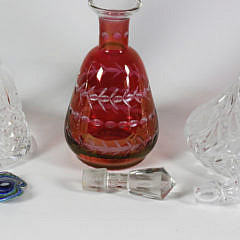 Three Assorted Crystal Decanters