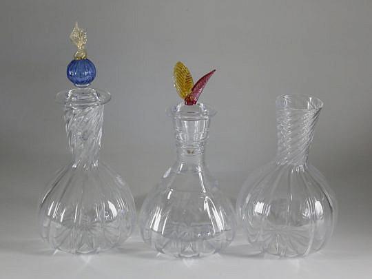 161-4621 3 Robert Dane Glass Carafes A_MG_9486