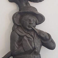Antique Cast Iron Figural Hunter Doorstop