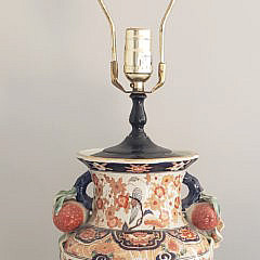 Decorative Imari Porcelain Vase Mounted As a Lamp