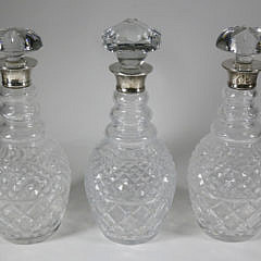 252-4621 3 Crystal and Sterling Decanters A_MG_9605