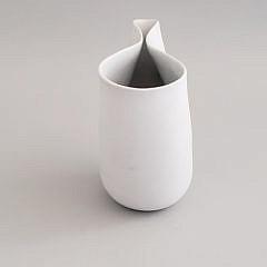 Mid-Century Modern Studio Veckla Swedish Pinch Form Vase