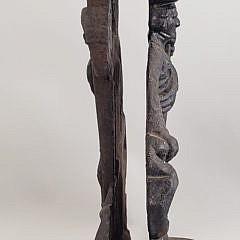 Two Antique Cast Iron Scottish Highlander Doorstops