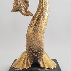 Vintage Brass Sea Serpent Doorstop