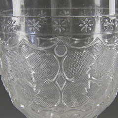 Set of 14 American Pressed Pattern Glass Goblets, circa 1840