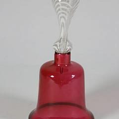 34-3104 English Ruby Glass Wedding Bell A_MG_9545