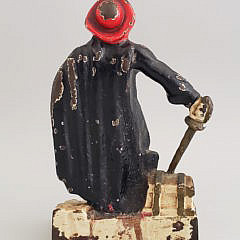 Antique Cast Iron Pirate Doorstop