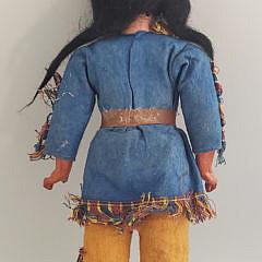 Antique Madame Alexander Porcelain Face Native American Doll