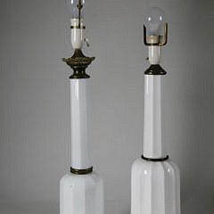 42-4935 Two White Opaline Glass Lamps A_MG_9552