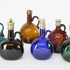 43-3104 Six Colored Glass Decanters A_MG_9634