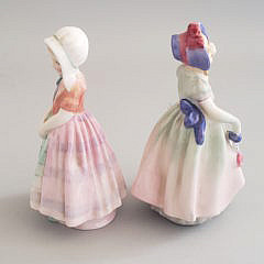 "Two Royal Doulton Figurines, ""Babie & Tootles"", circa 1930s"