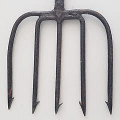 Two 19th Century Iron Eel Spears