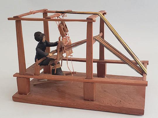 379-2890 Woman Loom Miniature A