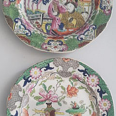 Two Pairs of 19th Century Mason's Ironstone China Plates