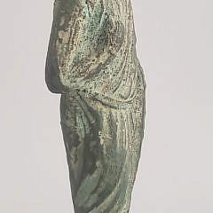 Antique Medieval Knight Cast Bronze Figure