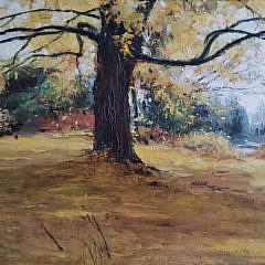 "Walter Rane Oil on Canvas Landscape ""Autumn Leaves"""