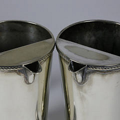 Pair of English Silver Plate Ice Water Bar Pitchers