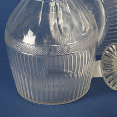 Pair of Blown Crystal Decanters, circa 1840