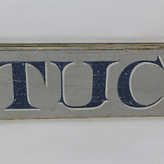 Carved and Painted Nantucket Quarterboard