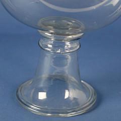 Blown Glass Pedestal Fish Bowl, circa 1890
