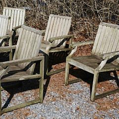 Set of Six Kingsley-Bate Teak Wood Armchairs