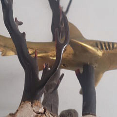 P. Johnston Limited Edition Bronze Shark Sculpture