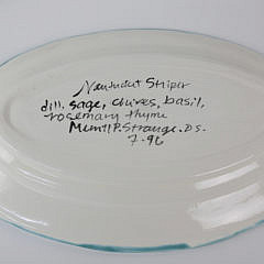 Set of Three Nantucket Made Ceramic Serving Pieces