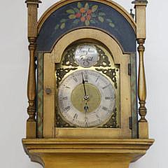 """""""Tempus Fugit"""" Hand Decorated Grandmother's Clock"""