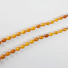 Vintage Russian Amber Bead Necklace
