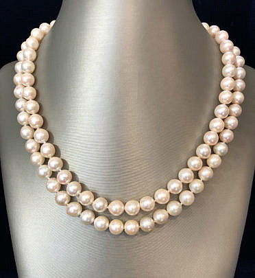 180-4800 2-Strand Pearl Necklace A IMG_6418