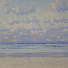 """Robert Jones Oil on Canvas """"Atlantic Shore II"""""""