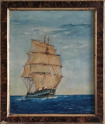 2-700 WJ Blair Clipper Ship Painting A