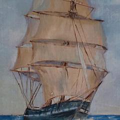 "W.J. Blair Oil on Board, ""Blue Skies and Calm Seas"", Nantucket"