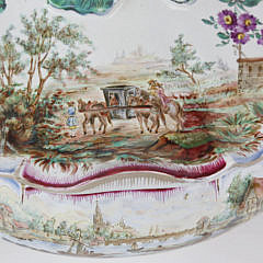 French Faience Covered Soup Tureen, Samson Mark, 19th Century
