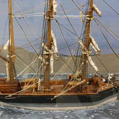 Diorama of the British Ship Tythonus, circa 1920