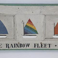 "Hand Decorated Sign, ""The Rainbow Fleet – Nantucket"""