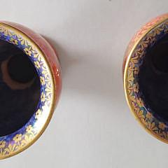 Pair of Wedgwood Glazed Porcelain Bud Vases
