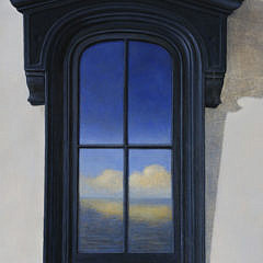 "Michael John Mariano Oil on Linen ""Black Window"", 2004"